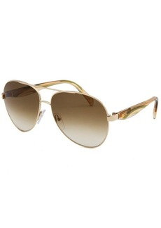 Emilio Pucci Women's Aviator Gold-Tone Sunglasses