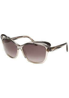 Emilio Pucci Women's Butterfly Granite and Black Sunglasses