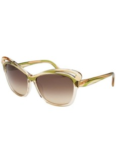 Emilio Pucci Women's Butterfly Green and Sand Sunglasses