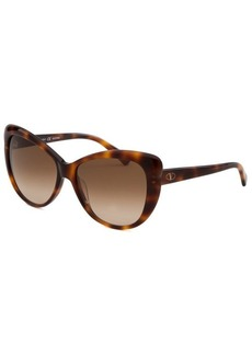 Emilio Pucci Women's Butterfly Havana Sunglasses