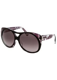 Emilio Pucci Women's Capsule Collection Modified Oval Black Sunglasses