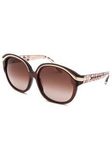 Emilio Pucci Women's Capsule Collection Round Brown Sunglasses