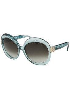 Emilio Pucci Women's Capsule Round Light Blue Sunglasses