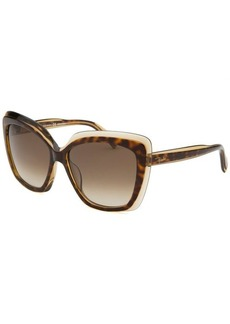 Emilio Pucci Women's Cat Eye Havana and Honey Sunglasses