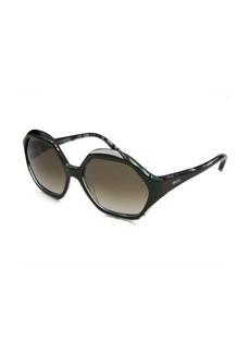 Emilio Pucci Women's Hexagon Fashion Green Sunglasses