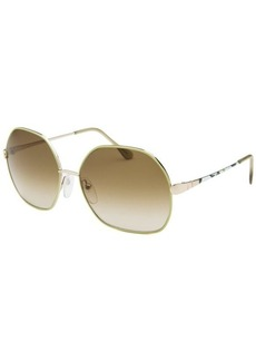 Emilio Pucci Women's Hexagon Green and Gold-Tone Sunglasses