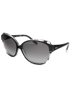 Emilio Pucci Women's Oval Black & Transparent Sunglasses