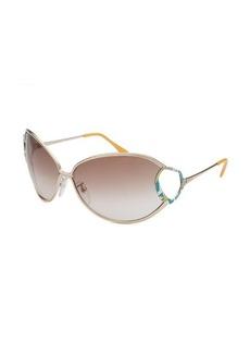 Emilio Pucci Women's Oval Gold-Tone Sunglasses