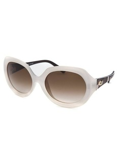 Emilio Pucci Women's Oval White Sunglasses
