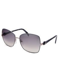 Emilio Pucci Women's Rectangle Blue & Silver Sunglasses