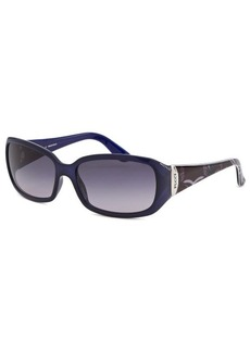 Emilio Pucci Women's Rectangle Blue Sunglasses