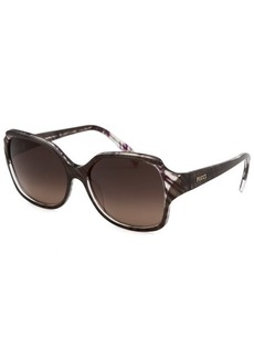 Emilio Pucci Women's Rectangle Cocoa Sunglasses