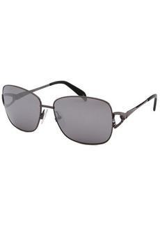Emilio Pucci Women's Rectangle Gunmetal Sunglasses