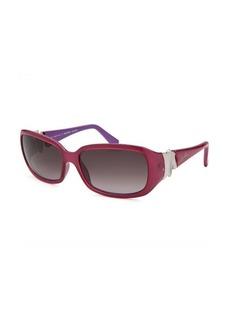 Emilio Pucci Women's Rectangle Pink and Purple Sunglasses