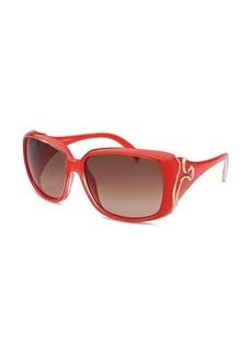 Emilio Pucci Women's Rectangle Red Sunglasses