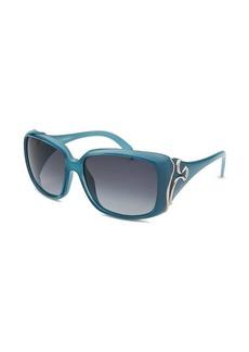 Emilio Pucci Women's Rectangle Sky Blue Sunglasses