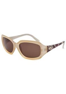 Emilio Pucci Women's Rectangle Translucent Beige Sunglasses