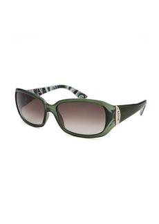 Emilio Pucci Women's Rectangle Translucent Green Sunglasses
