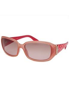 Emilio Pucci Women's Rectangle Translucent Pink Sunglasses