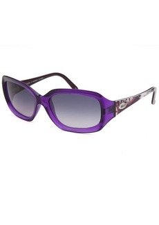 Emilio Pucci Women's Rectangle Translucent Purple Sunglasses