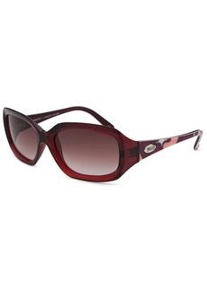 Emilio Pucci Women's Rectangle Translucent Red Sunglasses
