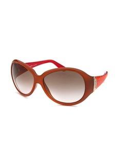 Emilio Pucci Women's Round Burnt Orange Sunglasses
