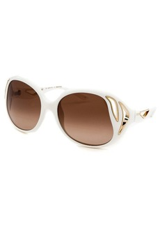 Emilio Pucci Women's Round White Sunglasses