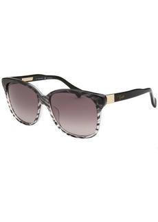 Emilio Pucci Women's Square Baby Zebra Sunglasses