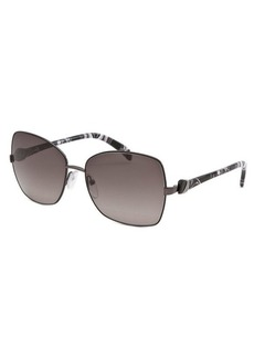 Emilio Pucci Women's Square Black and Gunmetal Sunglasses