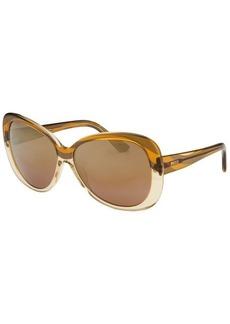 Emilio Pucci Women's Square Cognac Sunglasses