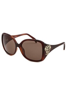 Emilio Pucci Women's Square Dark Havana Sunglasses
