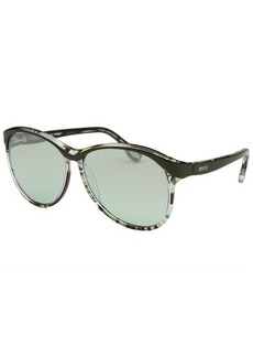 Emilio Pucci Women's Square Green and Yellow Sunglasses