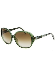 Emilio Pucci Women's Square Green Sunglasses