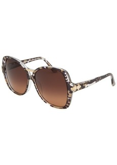 Emilio Pucci Women's Square Griffin on Crystal Green and Black Sunglasses