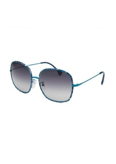 Emilio Pucci Women's Square Multi-Color Sunglasses Blue Lens