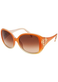 Emilio Pucci Women's Square Orange Sunglasses