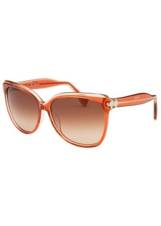 Emilio Pucci Women's Square Peach Sunglasses