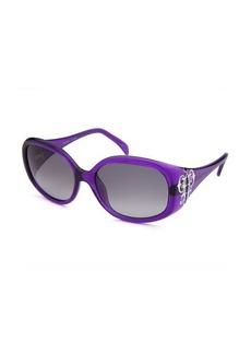 Emilio Pucci Women's Square Purple Translucent Sunglasses