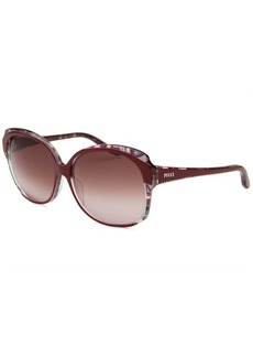 Emilio Pucci Women's Square Red and Multi-Color Sunglasses