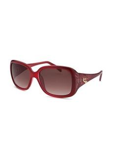 Emilio Pucci Women's Square Red Translucent Sunglasses