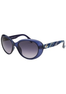Emilio Pucci Women's Square Translucent Blue Sunglasses