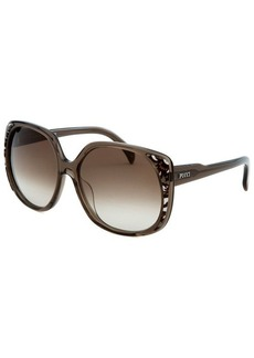 Emilio Pucci Women's Square Walnut Sunglasses