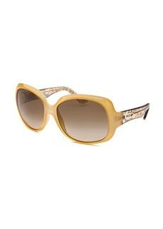 Emilio Pucci Women's Square Yellow Sunglasses
