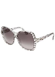 Emilio Pucci Women's Square Zebra Transparent Sunglasses