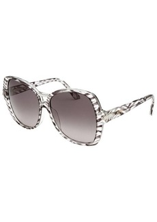Emilio Pucci Women's Square Zebra Transparent Sunglasses
