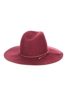 Emilio Pucci Woven-leather and felt hat