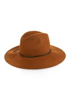 Emilio Pucci Woven-leather trim felt hat