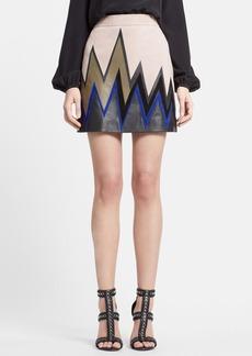 Emilio Pucci Zigzag Leather Miniskirt