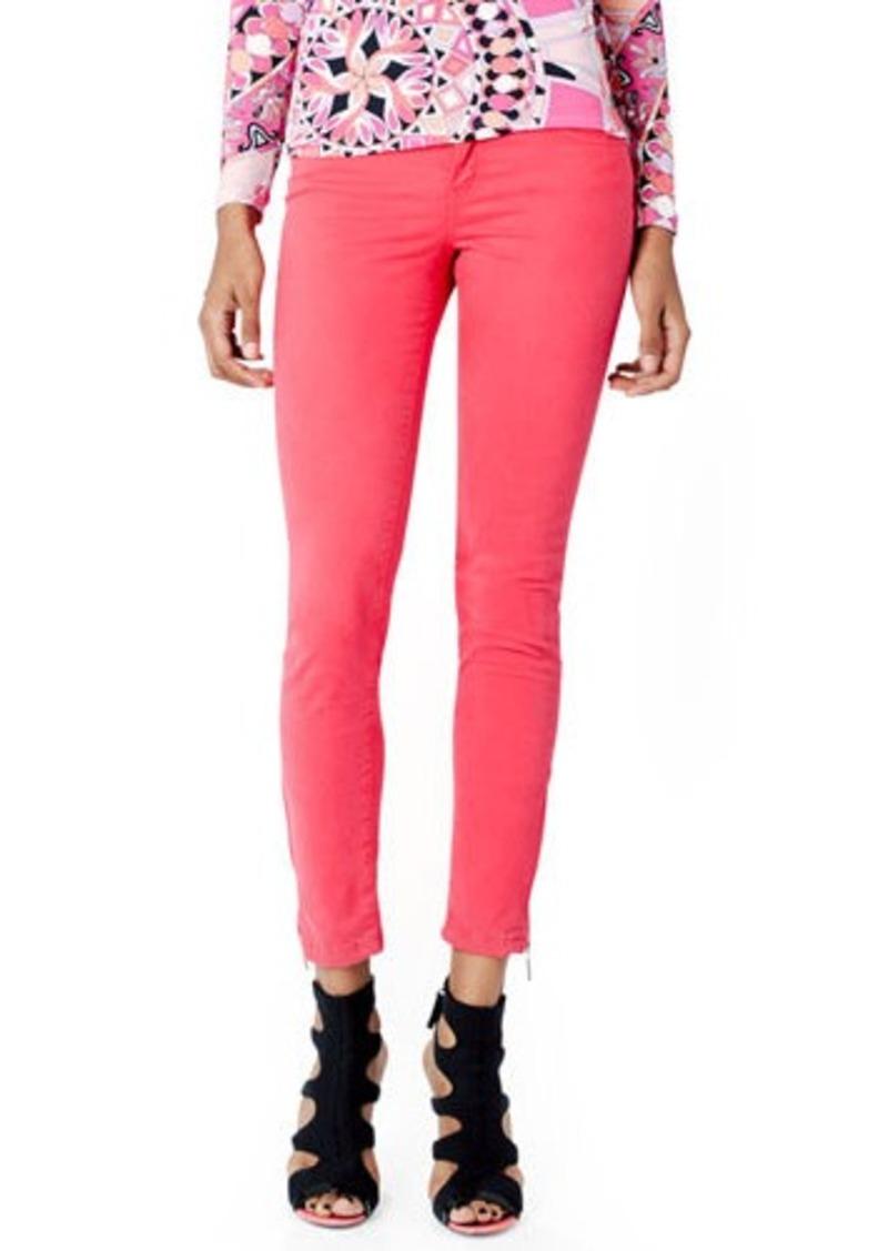 Emilio Pucci Zipper-Cuff Skinny Jeans