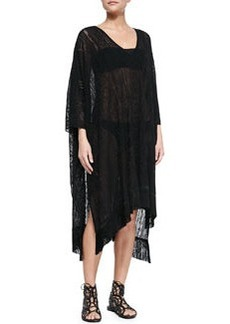 Lace Fringe-Hem Cape Coverup   Lace Fringe-Hem Cape Coverup